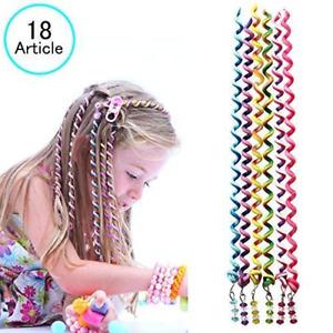 18 Pcs Hair Bands for Girl Women,Beautyshow Braided Rubber Hair Band Hair Clip