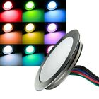 Slim LED Einbau-Leuchte Alu 12V 0,5W IP67 trittfest Spot Wand-Leuchten Spots