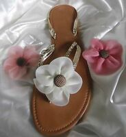 2 Flower Shoe Clips with Button Centre for Flipflops / Sandals & Shoes