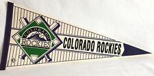 Colorado Rockies Vintage Major League Baseball 30x12  Wincraft Pennant Felt