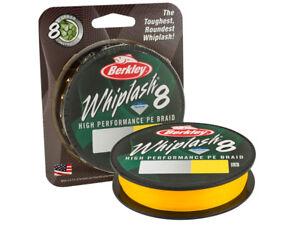 Berkley Whiplash 8 Yellow 164yds 0,06-0,20mm Braided fishing line
