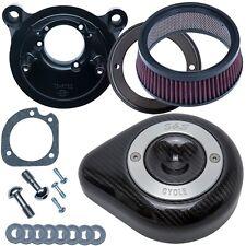 S&S 170-0498 Stealth Air Cleaner Kit Carbon Fiber Teardrop 17-19 Harley M8 FLH/T