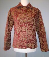 DB SPORT Burgundy & Gold LS Tapestry Jacket Size: Medium Excellent Condition!!