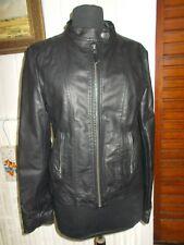 Manteau Blouson perfecto veste courte droit noir CACHE CACHE T.3 38/40 poche zip