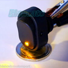 INTERRUTTORE A BILANCIERE con LED GIALLO 12V 30A DC  [ switch camper auto moto ]
