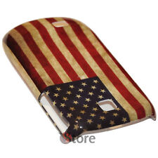 Cover Per Samsung S5570 Galaxy Next Turbo Bandiera America Retro rigida