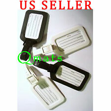 8 Pcs Luggage Tag Set Name Address Holder Travel 5 x 8.5cm