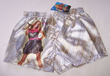 Disney Hannah Montana Girls Silver Boxer Shorts Size 8 - 10 New