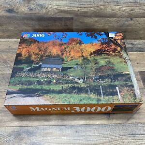 Milton Bradley Magnum Puzzle 3000 Pieces Woodstock VT 1991 Vintage Sealed Fall
