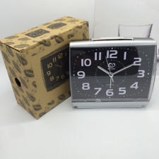 Silent Night Glow Alarm Clock Bedside Travel Large Numbers Quartz Movement