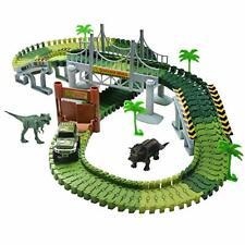 Dinosaur Track Set Jurassic World Flexible Variable Racing Track Game Dino Slot