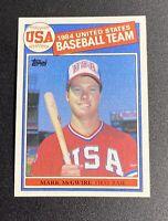 1985 TOPPS MARK McGWIRE USA TEAM ROOKIE CARD #401 CENTERED PSA 10 GEM MINT