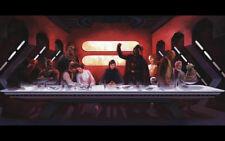 Star wars c3po darth vader last supper Silk Poster/Wallpaper 24 X 13 inches
