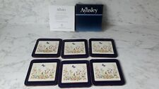 AYNSLEY COTTAGE GARDEN 6 x COASTERS CORKED BACK - BOXED & EXCELLENT CONDITION