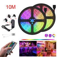 LED-Lichtleiste RGB 5050 SMD Flexibles Farbband 44key Remote 5M 10M 15M Full Kit