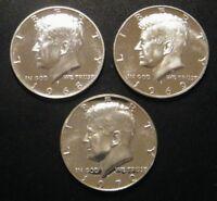 1968 S 1969 S 1970 S Kennedy Gem Proof Half Dollar Run 3 Coin Set 40% Silver US
