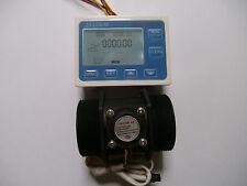 "NEW G 2"" inch Flow  Water Sensor Meter+LCD Digital Display Controller"