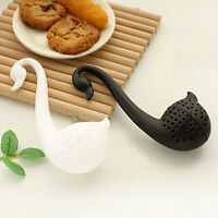 Colander Swan Shape Tea Herb Strainer Teaspoon Infuser Filter EP