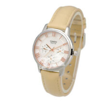 -Casio LTPE315L-7A2 Ladies' Leather Fashion Watch Brand New & 100% Authentic