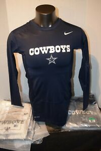 Dallas Cowboys Nike NFL Equipment L/Sleeve Compression Shirt Navy/White  XL-3XL