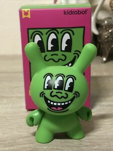 Kidrobot Keith Haring Dunny Series Green 3 Eyed Monster Figure NEW Opened Blind