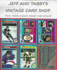 1979-80 TOPPS HOCKEY SEE SCANS # 143 TO # 264 AND STICKERS