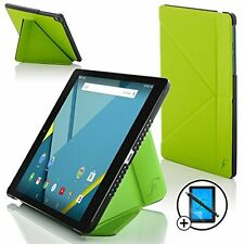 Forefront Cases® Green Origami Smart Case HTC Google Nexus 9 Screen Prot Stylus
