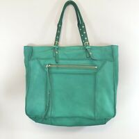 STEVEN By Steve Madden Leather Green Tote Bag Womens Purse Size Medium