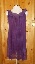 ANGEL EYE purple lace chiffon gypsy boho VICTORIANA midi knee dress M-L 10-12