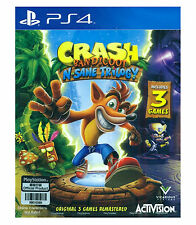 CRASH BANDICOOT N. SANE TRILOGY, Disc, PlayStation PS4, 2017, English Japanese