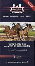 Racecard - Southwell 30th January 2014