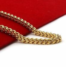 """Gold Plated Stainless Steel Heavy Thick HipHop 4mm 36"""" Franco Chain Necklace"""