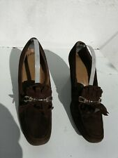 Brogue SHOES Brown Suede Leather round toe Vintage 1960s