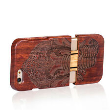 For iPhone 6/6S Plus Natural Wooden Wood Bamboo Phone Case Cover for iPhone