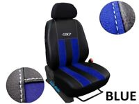 FORD TRANSIT CUSTOM VAN 2013 PRESENT ECO LEATHER & ALICANTE DRIVER SEAT COVER