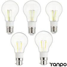 Vintage Edison Bombilla LED E27 B22 3W 4W 6W Retro Casa Deco Luces y Lámpara 12V 85-265V