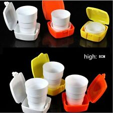 New listing 1xPortable Plastic Retractable Folding Cup Telescopic Collapsible Outdoor Useful