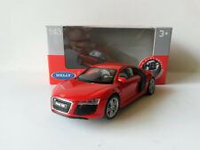 AUDI R8 Welly White and Black 1 43 Diecast Car Priority