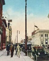 Postcard, Scarth St., Regina Saskatchewan Canada, Hand Tinted Vintage P20