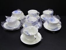 Wedgwood Strawberry Vine Cups and Saucers / Set of 7 / New