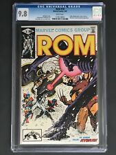 1981 Marvel ROM # 18 CGC 9.8 White Pages, Miller & Austin Cover, X-Men Appear!