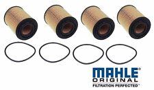 Porsche Cayenne (04-11) Engine Oil Filter Kits (x4) MAHLE