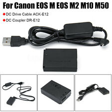LP-E12 Power Charger Cable ACK-E12+DR-E12 Dummy Battery For Canon EOS M2 M50