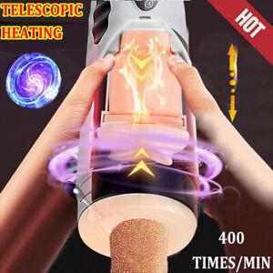 Auto Rotating Vibrating Male Masturbator Telescopic Vagina Anus STROKER  Sex Toy