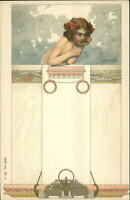 Art Nouveau CTH Kempf c1900 UDB Postcard - Child & Pillar Column Series 165 #2