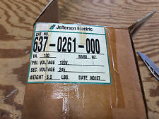 JEFFERSON 637-0261-000 CONTROL TX 100VA PRI: 120V SEC: 24V OPEN LEADS *NEW!*