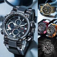 Smael Männer Uhren Mode Digital Led Armbanduhr Großes Gesicht Männlich Quarzuhr