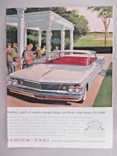 Pontiac Bonneville Vista PRINT AD - 1959 ~~ 1960 model