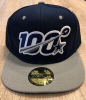 DALLAS COWBOYS NFL 100 Seasons Logo Patch Style Cap Hat 100th NAVY Two Tone