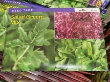 Burpee Easy Sow Seed Tape: Salad Greens Mix 22.50-Ft Tape 270 Seeds (2018)